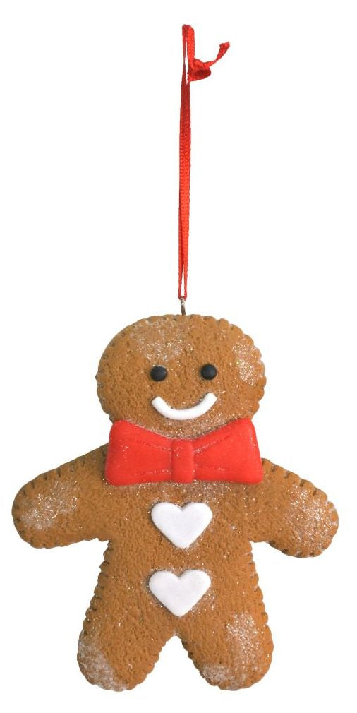 Gingerbread Man Bauble - 11.5cm x 9.5cm