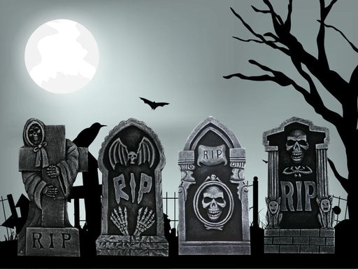 Tombstone Decorations - 4pc