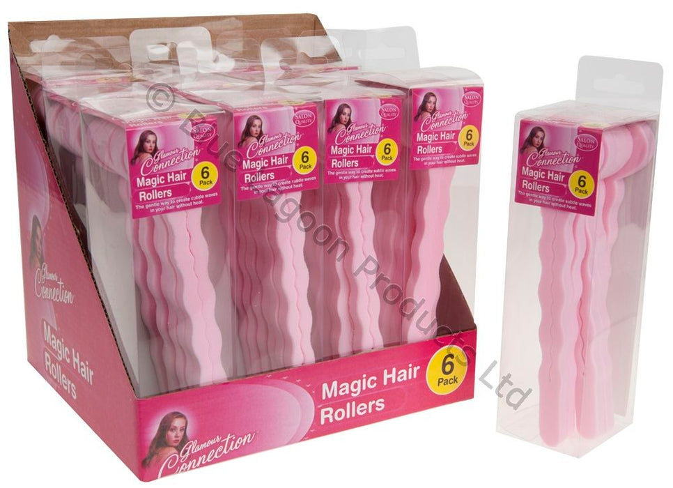 Magic Foam Hair Rollers - 6pc