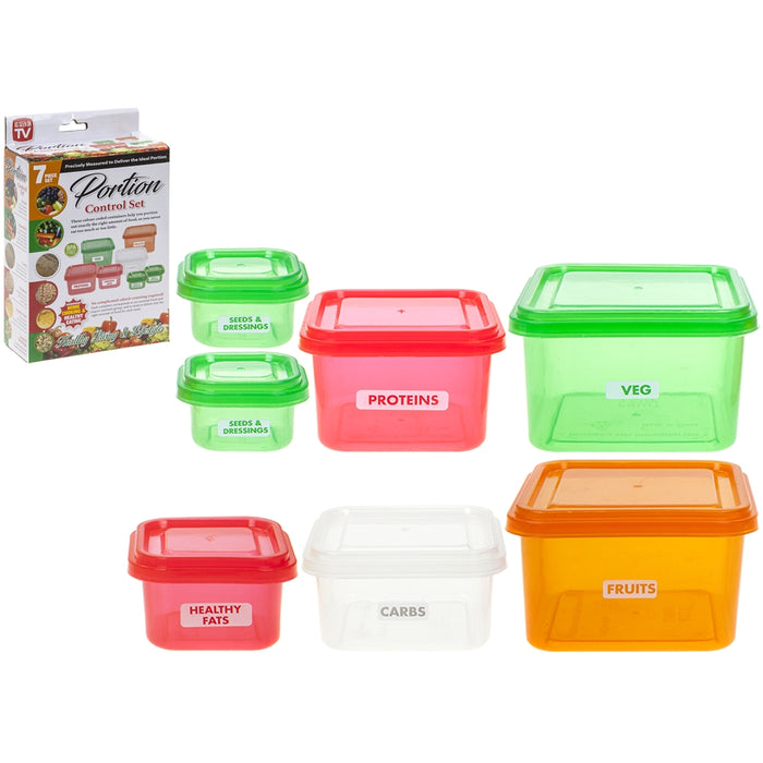 Portion Control Healthy Eating Pots 7pc