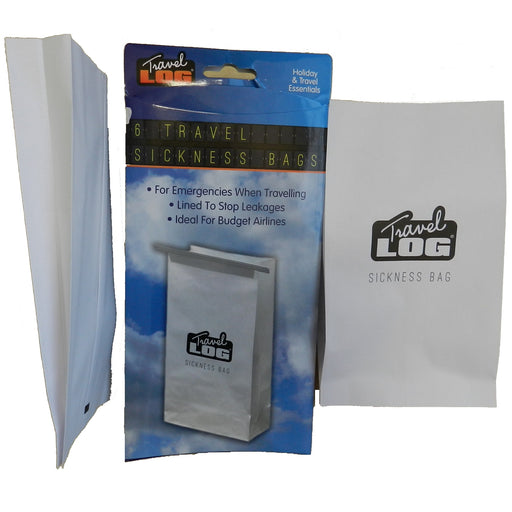 Lined Paper Sickness Bags - 6pc