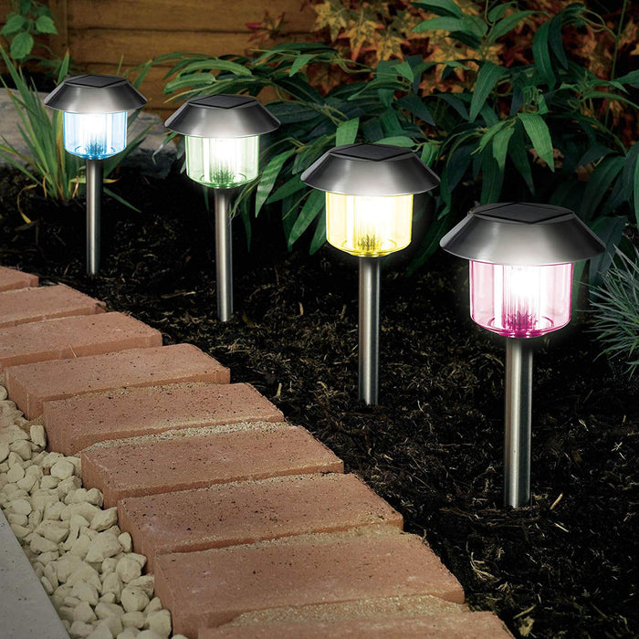 DISC Solar Pagoda Colour Changing Light - 12pc Set