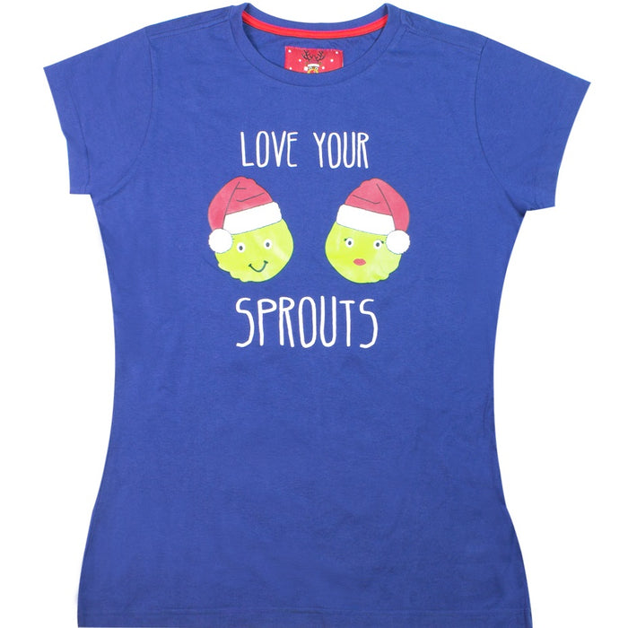 Ladies Christmas T-Shirt - Love Your Sprouts
