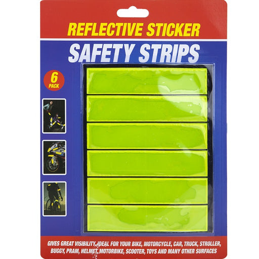 Reflective Safety Strips - 6pc