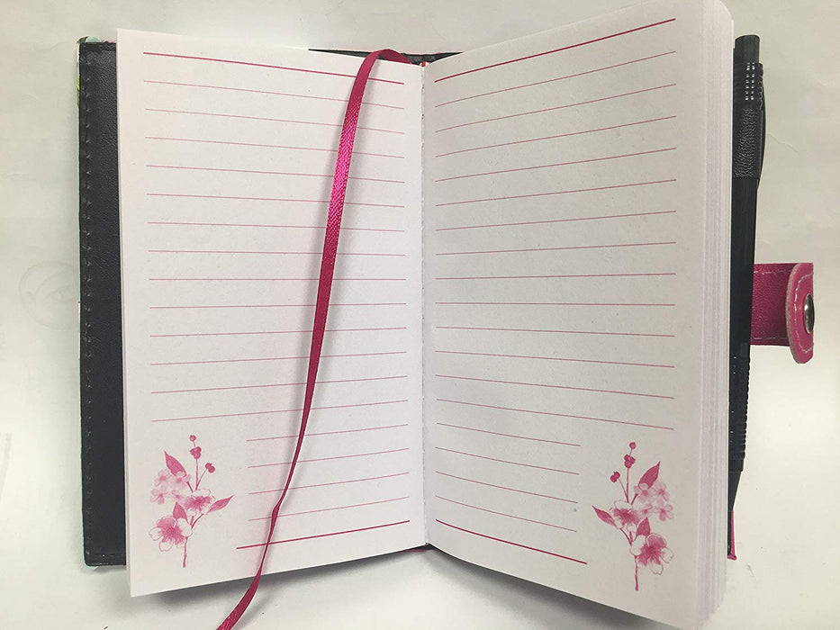 Pocket Floral Notebook - With Pen