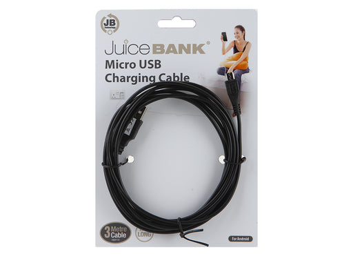 Micro USB Charging Cable - Black