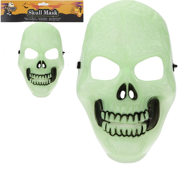Glow In Dark Skeleton Mask - Adult