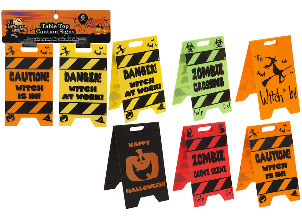 Table Top Caution Signs - 2pc