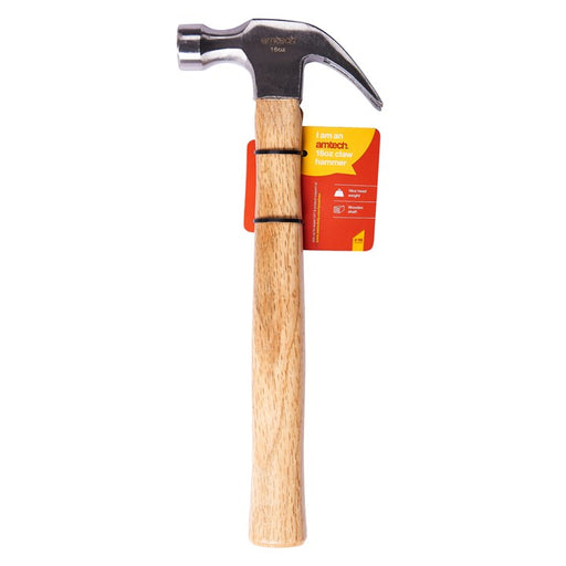 16oz Claw Hammer - Wooden Shaft