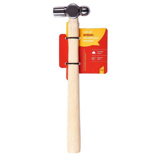 4oz Ball Pein Hammer - Wooden Handle