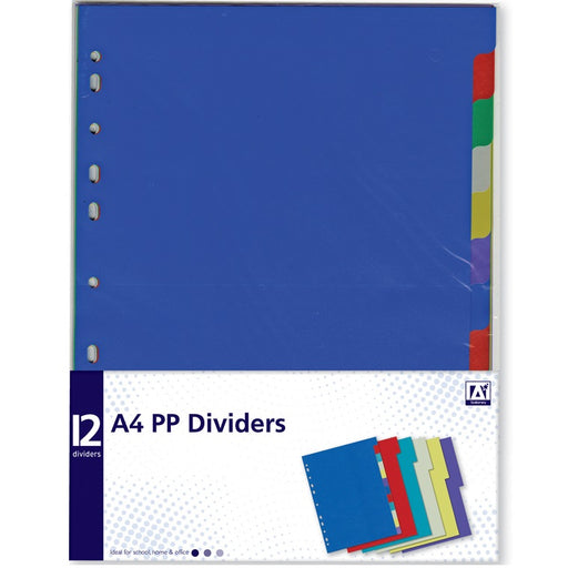 A4 Plastic Dividers  - Pack of 12