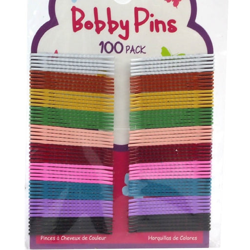 Small Coloured Bobby Pins - 100pc