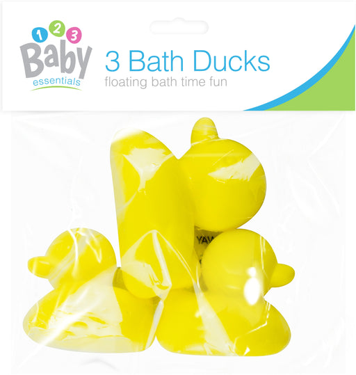 Baby Bath Plastic Ducks - 3pc Set