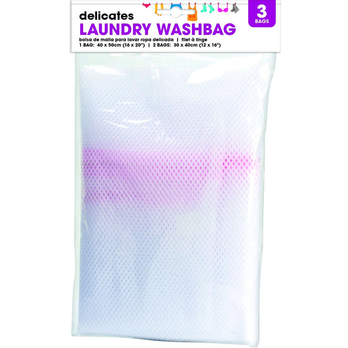 Zipped Laundry Mesh Bags - 3pc