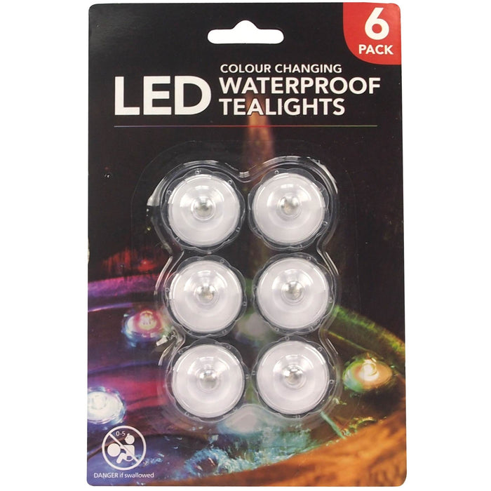 Waterproof LED Tea Lights - 6pc