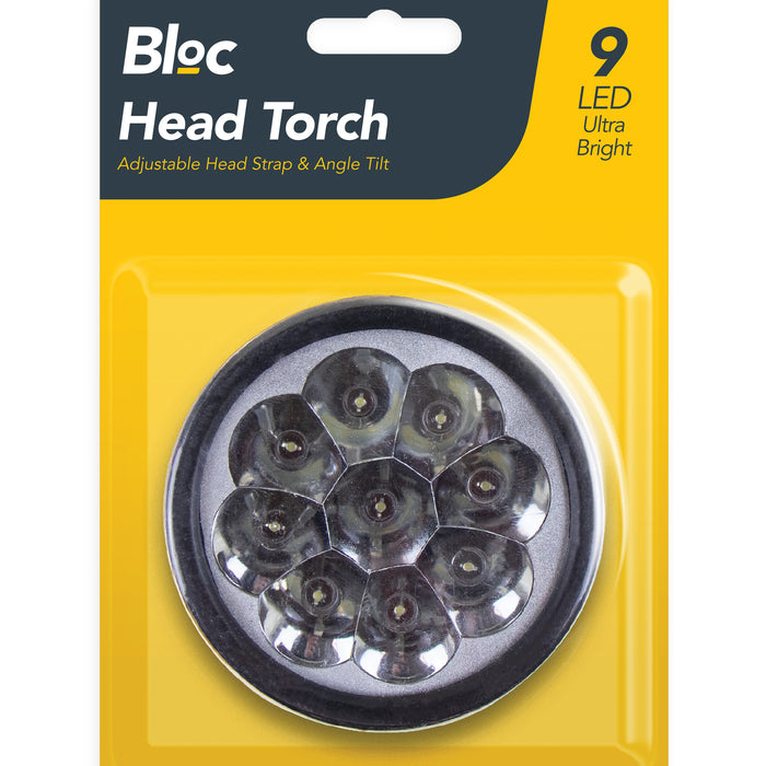 Head Torch - 9 LED