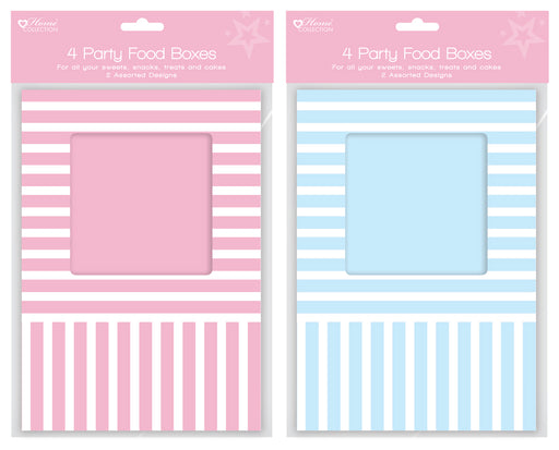 Food Boxes Striped - 4pc