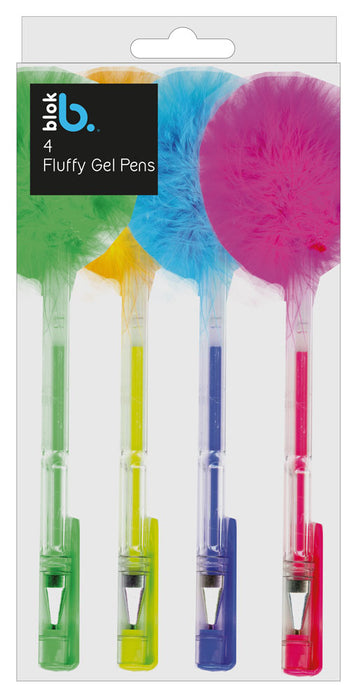 Fluffy Gel Pens - 4pc Set