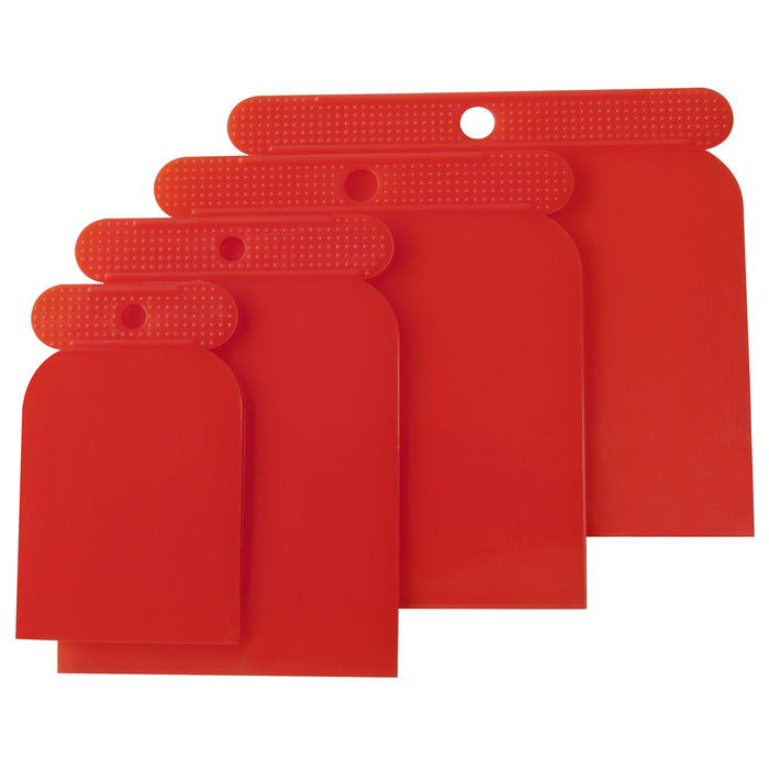 Plastic Scraper Set - 4pc