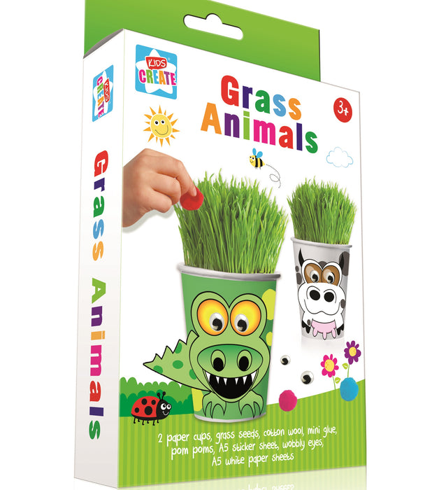 Create Your Own Garden Grass Animal - Ages 3+