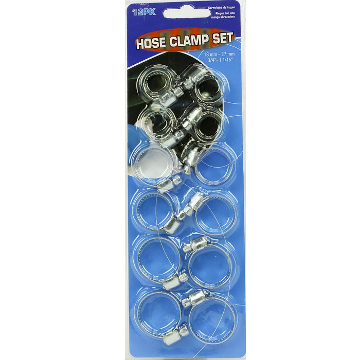 Assorted Hose Clamps - 12pc
