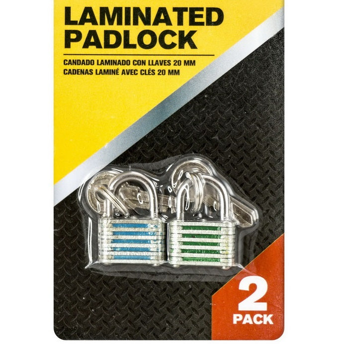 DISC 20mm Padlocks - 2pc
