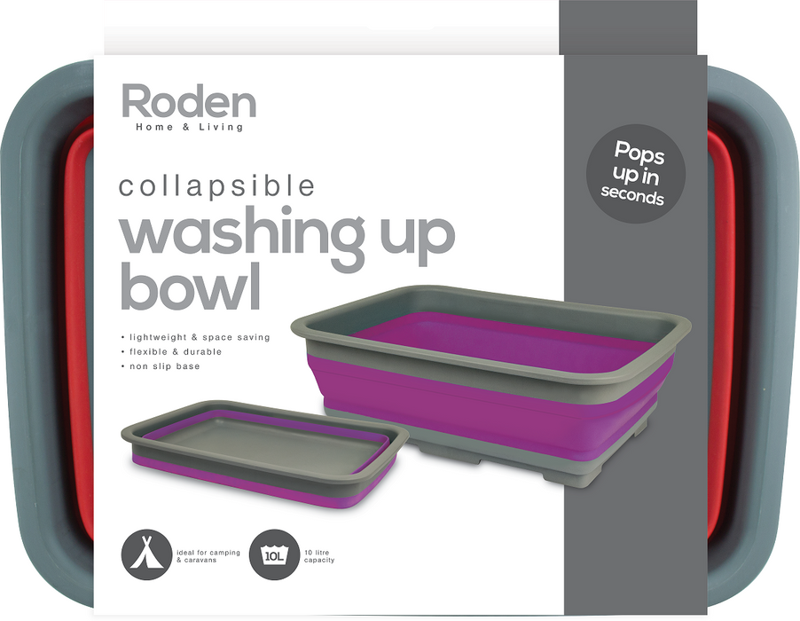 Collapsible Washing Up Bowl - 10L