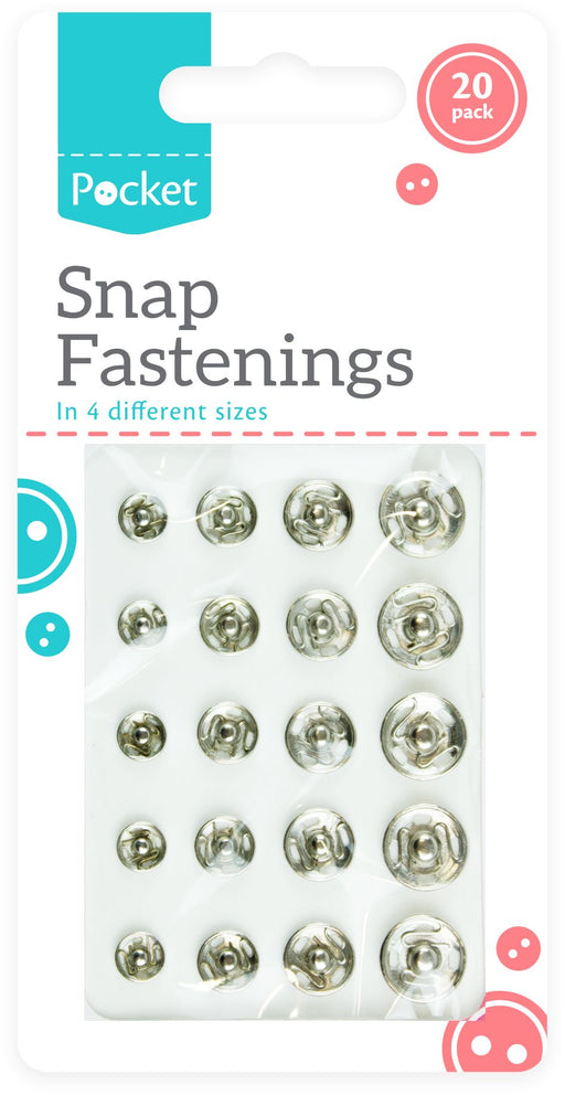 Snap Fasteners - 20pc Set