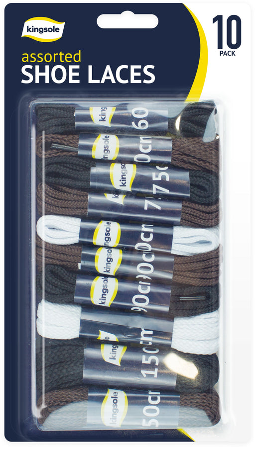 Assorted Shoe Lace Pairs - 10pc
