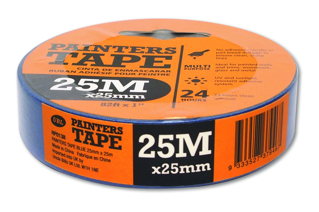 Blue Painters Masking Tape - 25mm