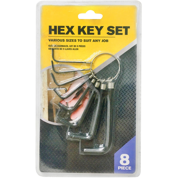 Hex Key Wrench  - 8pc
