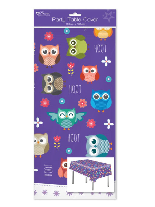 Owl Plastic Party Table Cover - 120cm x 180cm