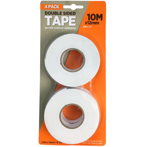 12mm Double Sided Acrylic Tape - 4 Rolls