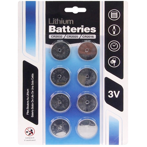 Lithium Cell Batteries - 8pc