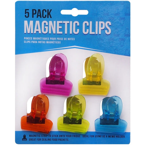 Clip On Memo Magnets - 5pc