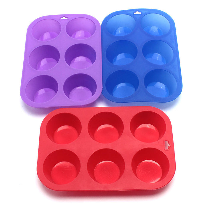 Silicon Muffin Mould - 6 Cup