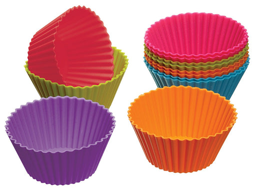 Silicon Mini Cake Moulds - 12pc