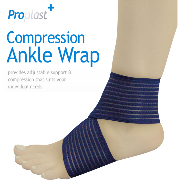 Compression Ankle Wrap - Flexible Support