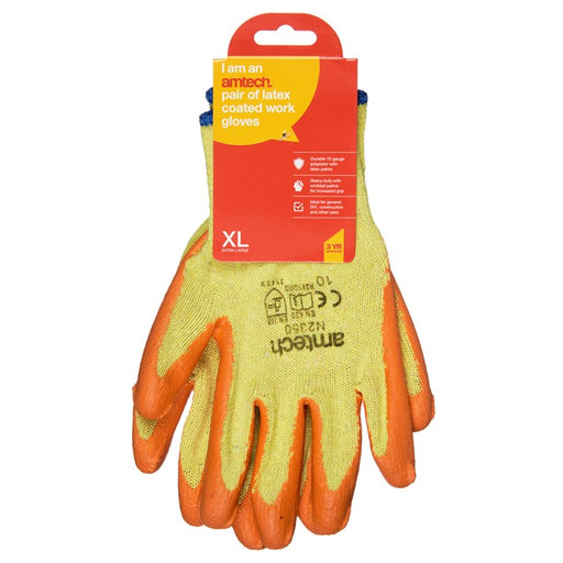 Latex Coated Gloves - Size 10 (XL)