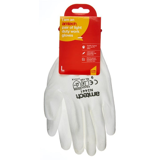 Light PU Coated Gloves - Size 9 (L)