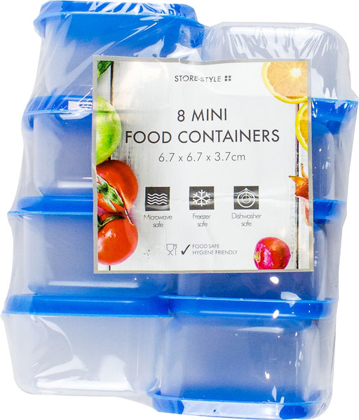 Plastic Mini Storage Boxes - 8pc