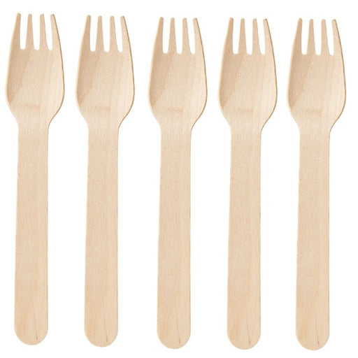 Eco Bio Wooden Disposable Forks - 24pc