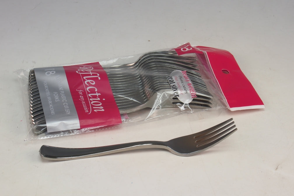 Silver Disposable Forks - 18pc
