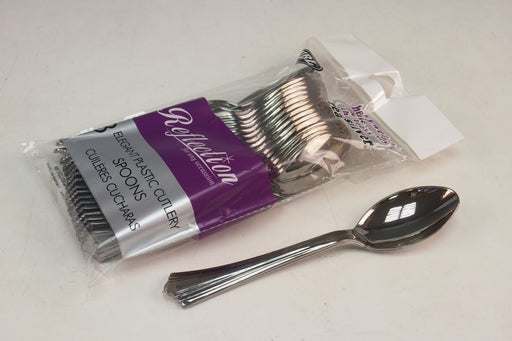 Silver Disposable Spoons - 18pc