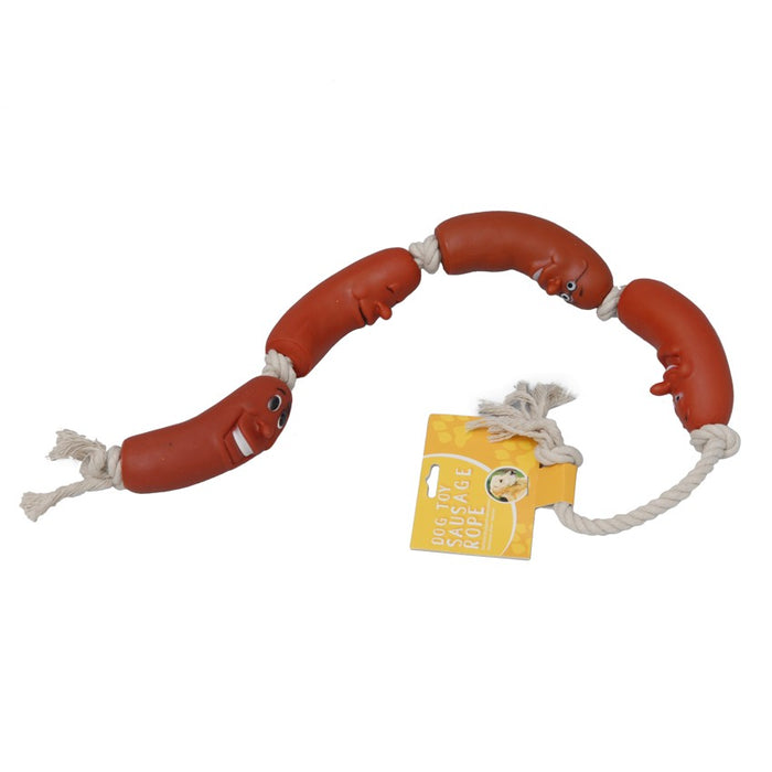DISC Sausages On A Rope Chew Toy
