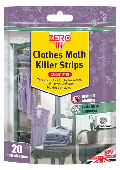 Moth Killer Strips - Pack of 20