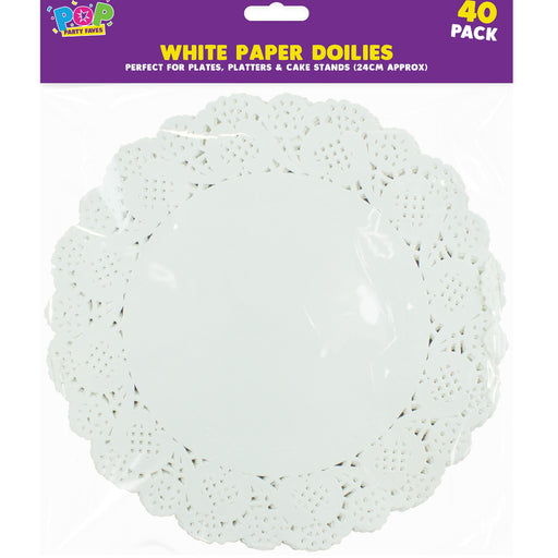 White Paper Doilies  - 40pc