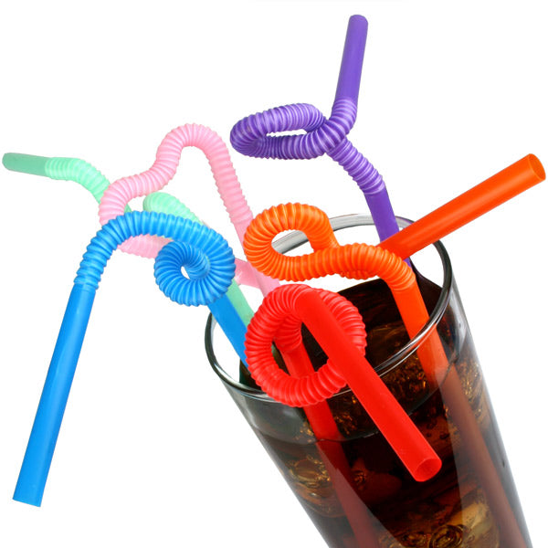 DISC Jumbo Flexi Straws - 100pc Set