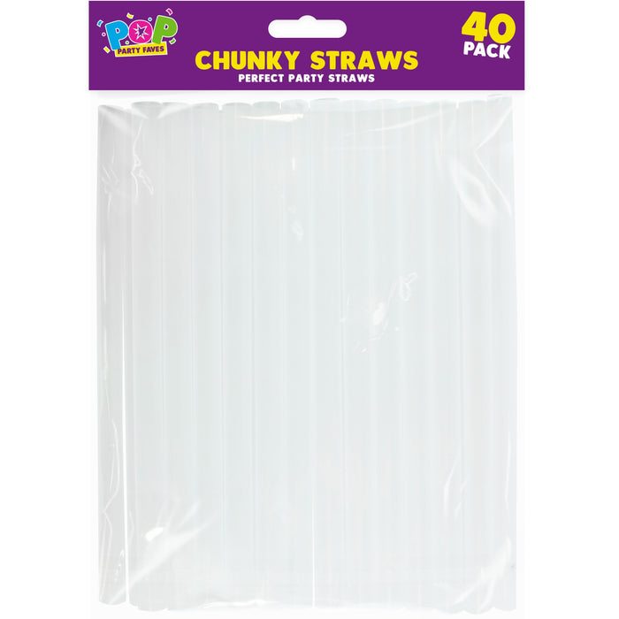 DISC Chunky Party Straws - 40pc