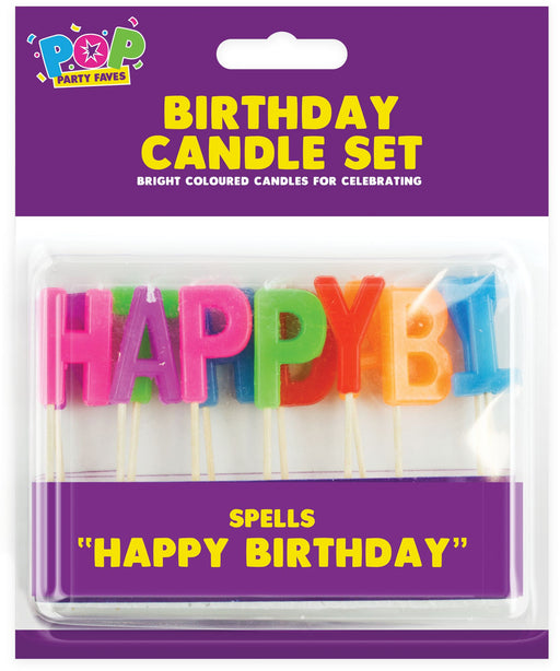 Happy Birthday Candle Set - 13 Piece